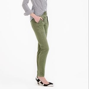J. Crew Skinny Stretch Cargo Pant in Army Green